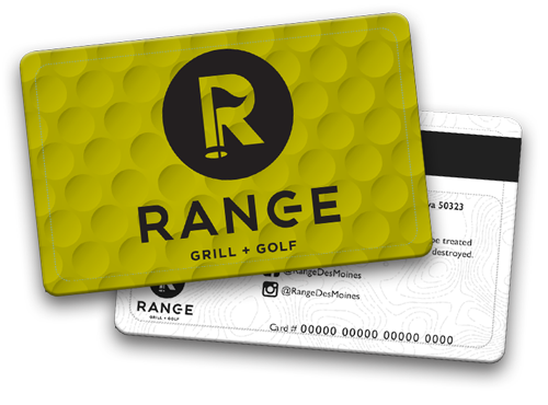range grill + Golf gift cards